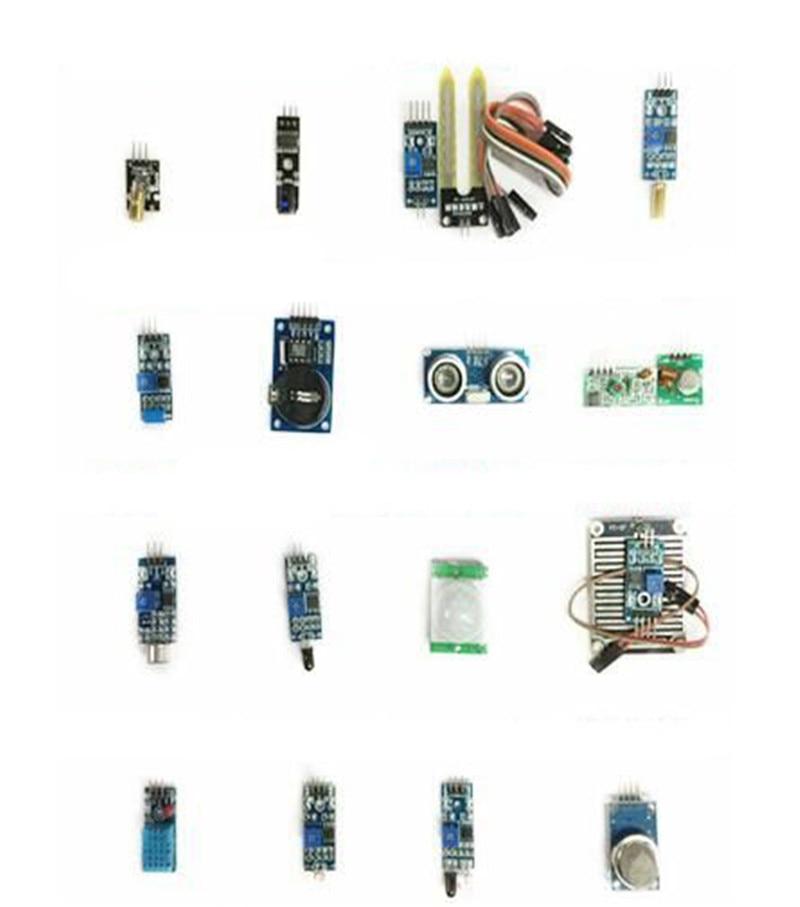 ФОТО 16pcs/lot Raspberry Pi 3&Raspberry Pi 2 Model B the sensor module package 16 kinds of sensor