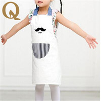 2017 Essential Household Pure Cotton Apron Apron Bib Thickened Antifouling Cartoon Baby Pinafore Beautiful Little Princess