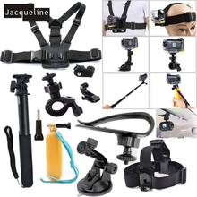 Jacqueline para Accesorios Kit Set para Sony HDR Actioncam AS50 AS20 AS200V AS30V AS300 AS15 AS100V AZ1 mini FDR-X1000V/W 4 k