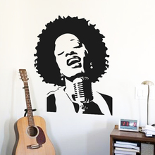 цена на Art cheap vinyl home decoration punk rock singer wall sticker removable house decor famous music star decals in bedroom or shop