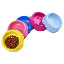 Pet Bowls For Small Dogs Random Color Plastic Single Bowl Drinking Puppy Feeding Watering  Dispenser Cats