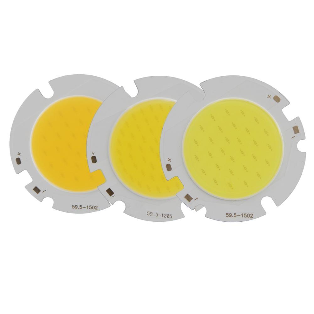 allcob 1pcs 5pcs 10pcs epistar chips Power LED COB round Light Source Module 10W 15W 20W 30W Warn Nature White for downlight