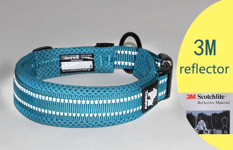 Collar para perro Nylon con acolchado de malla reflectante 4