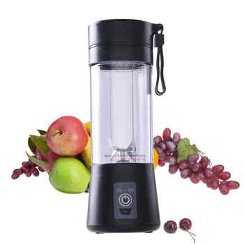 Portable Juice Blender USB Juicer Cup Multi-function Fruit Mixer Six Blade Mixing Machine Smoothies Baby Food dropshipping 400ML - DISCOUNT ITEM  0% OFF All Category