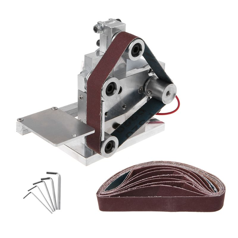 220-240V Multifunctional Mini Electric Belt Sander Electric Grinder DIY Polishing Grinding Machine Cutter Edges Sharpener  220-240V Multifunctional Mini Electric Belt Sander Electric Grinder DIY Polishing Grinding Machine Cutter Edges Sharpener