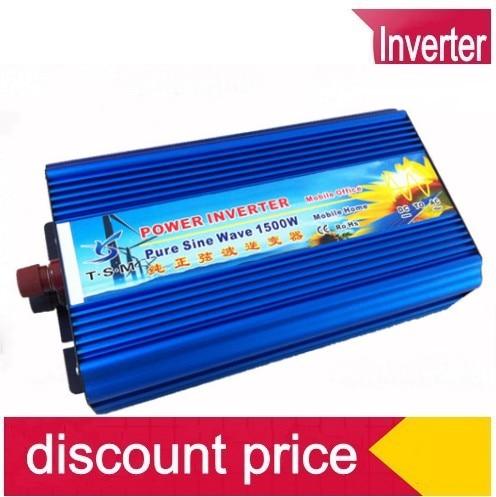1500W Pure Sine Wave Power Inverter Converter 12V DC to 220V 230V 240V AC 3000 Watt Peak solar power inverter 3000w peak 12v dc to 230v ac modified sine wave converter 1500w