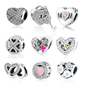 Classic Beads Love/Heart Charm Fit Original Pandora Charms Bracelet Necklace 925 Sterling Silver Bead Women DIY berloque Jewelry