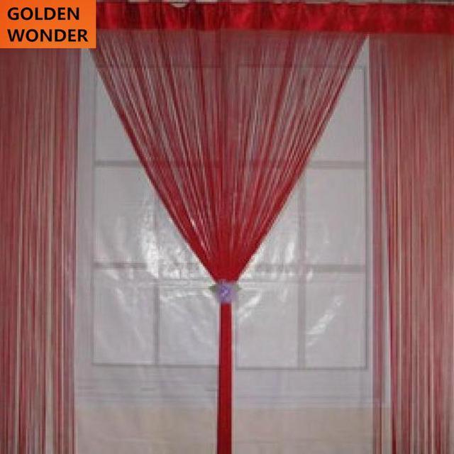 Plaine rideau fil rideau chaîne aveugles pour fenêtre cortina salon ...