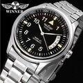 Winner Classic Design Wrist Watch Men Watches Top Brand Luxury Mechanical Watch Stainless Steel Fashion Self Wind Wristwatches