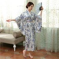 Vintage Japońskich Kobiet Satin Kimono Yukata Haori Z Obi Suknia Wydajność Kostium Klasyczne Odzież jeden rozmiar Azji H0056
