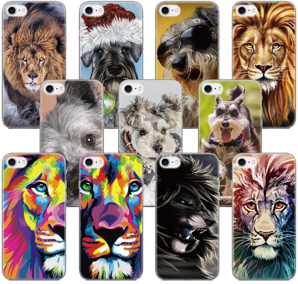 Schnauzer Lion King Case For Samsung Galaxy A5 A7 2018 Version S9 Plus S5 S6 S7 Edge Note 3 4 5 E5 Phone Cover Capa Coque Fundas