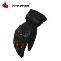 PRO BIKER Full Finger Motorcycle Gloves Windproof Winter Warm Motorbike Gloves Motorcycle Protective Gloves Ski Gloves