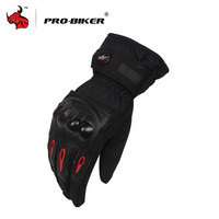 PRO BIKER Full Finger Motorcycle Gloves Windproof Winter Warm Motorbike Gloves Motorcycle Protective Gloves Ski Gloves