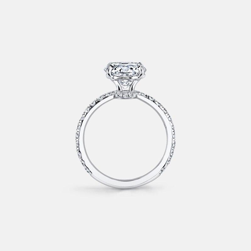 925 bague en argent Sterling 3 carats taille ronde SONA classique bague de fiançailles pour les femmes bague de promesse de mariage bijoux - 3