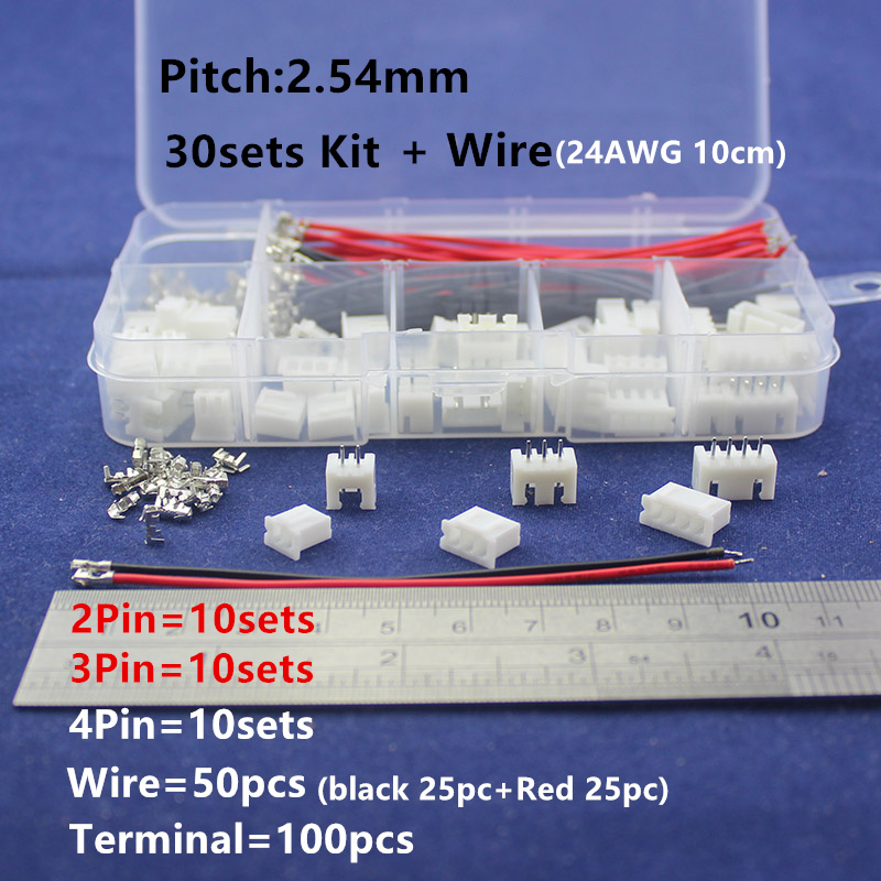 2p 3p 4p 2.54mm Pitch Kit & 50pcs 24AWG 10cm wire in box  Terminal / Housing / Pin Header Connector Wire Connectors Adaptor double row dupont kit 1p 2 2 2 3 2 4 2 5 2 6 2 7 2 8 2 9 2 10pin housing plastic shell terminal jumper wire connector set