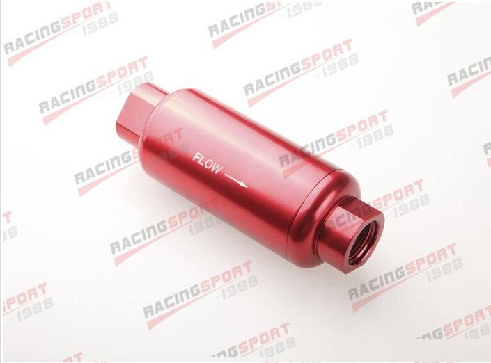 ФОТО AN -10 AN10 Red Anodised Billet Magnetic High Flow Fuel Filter 100 Micron