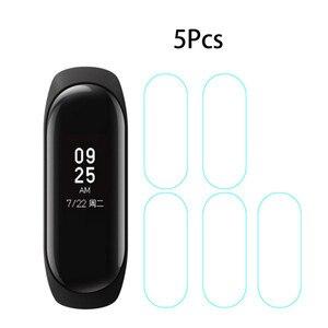 Image 5 - Mi banda 4 3 filme de tela protetor de película protetora 5 pçs 2pcs 1pc para xiaomi mi banda 4 3 anti risco mi band4 pulseira miband 4