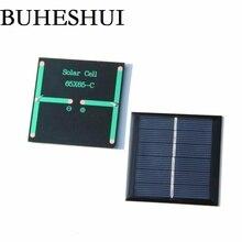 BUHESHUI 0,6 Вт 3 в мини солнечная панель солнечная батарея своими руками система солнечного зарядного устройства для 2,4 В батарея свет игрушка кабинет 65*65 мм 1000 шт
