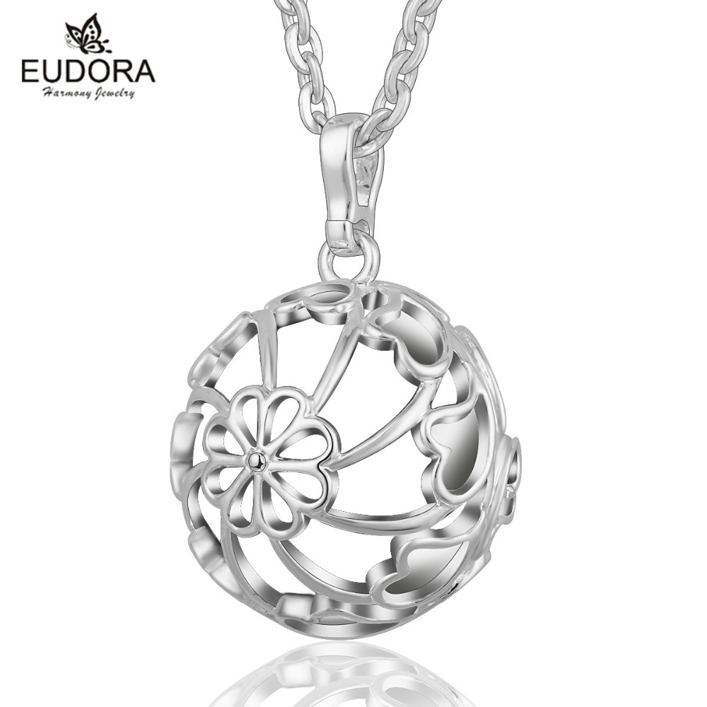 Angel Caller Pregnancy Hollow Locket Cage Pendant Necklace Fit Mexican Harmony Bola Sounds Bell Pregnant Women Gift