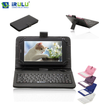 "Irulu expro x1 7 ""android 4.4 quad core tablet 16 gb rom de doble Cámara de Tablet PC Wifi 2800 mAh Multi Colores w/Caja Del Teclado ES"
