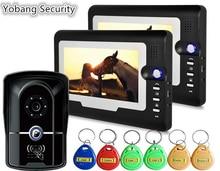 Yobang Security freeship 7 Inch Video Doorbell Phone Video intercom system System doorbell RFID camera access control system