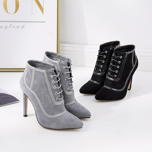 odinokov High Heels Boots Faux Suede Pointed Toe Party Lace-up Winter Pumps  Lady Shoes Ladies Branded Shoes Designer Shoeodinokov High Heels Boots Faux Suede Pointed Toe Party Lace-up Winter Pumps  Lady Shoes Ladies Branded Shoes Designer Shoe