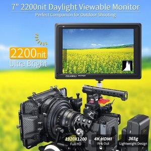 Image 5 - Feel world FW279 شاشة 7 بوصة فائقة السطوع 2200nit على مجال الكاميرا DSLR شاشة كاملة HD 1920x1200 4K مدخل HDMI الناتج سطوع عالية