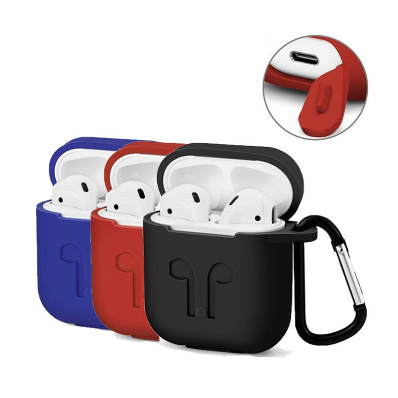 Silicone Shock Proof Protector Sleeve Wireless Earphone box For Apple AirPods Case Skin Cover