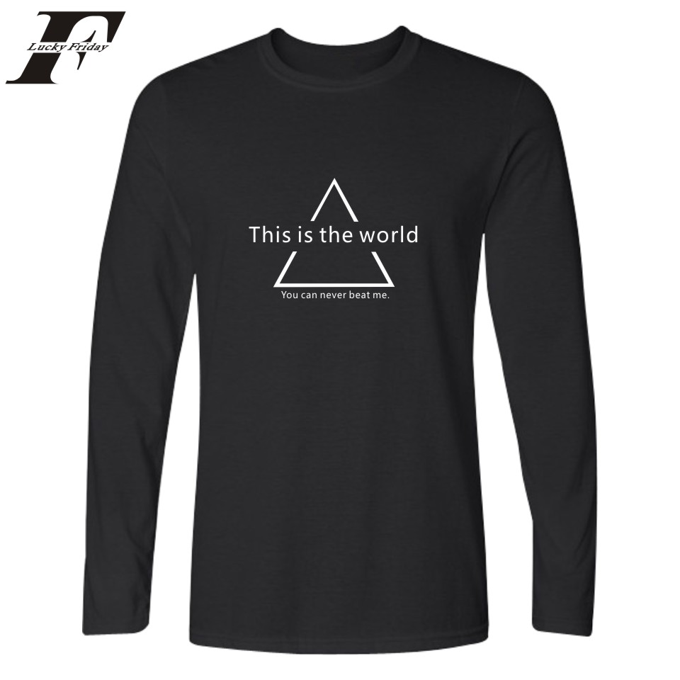 T shirt black and white designs - Special Graphical Design Tee Shirt Men Long Sleeves Autumn Basic Tops Funny Tshirt Designs Graphic T