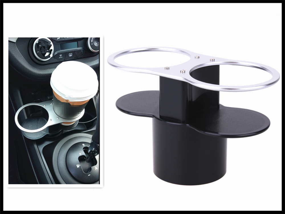 Double hole car accessories cup holder  beverage rack mounting for Forester Outback Lmpreza Justy Legacy Tribeca
