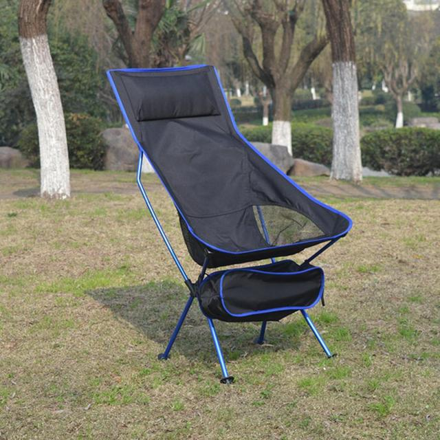 2020 Outdoor Camping Chair Oxford Cloth Portable Folding Camping Chair Seat for Fishing Festival Picnic BBQ Beach Stool With Bag 6