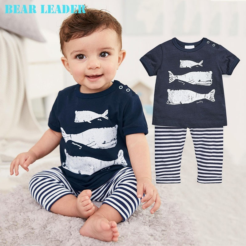 Bear Leader Baby Clothing Sets 2018 Spring&summer Baby Boys Clothes Long Sleeve T-shirt+Pants 2Pcs Suits Children Clothing bear leader baby boys girls sets 2017 autumn baby clothing sets house applique sweatshirt striped pants 2pcs for baby clothes