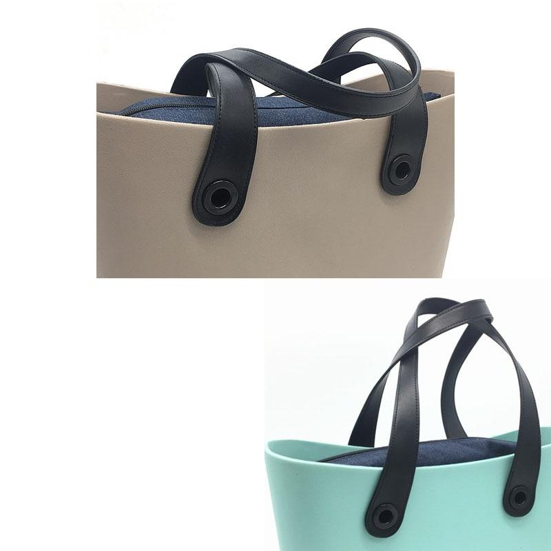 black PU 65 cm leather handles for obag