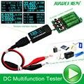 Bateria/USB Testador medidor de resistência de descarga de carga Eletrônica DC Voltímetro amperímetro 18650 capacidade de Crocodilo Jacaré clips Fio