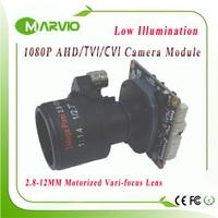 1080P FULL HD AHD / TVI / CVI 2.8 12mm Motorized Zoom & Auto Focal LensSensor AHD H CCTV Camera Module Board 1080N Modules
