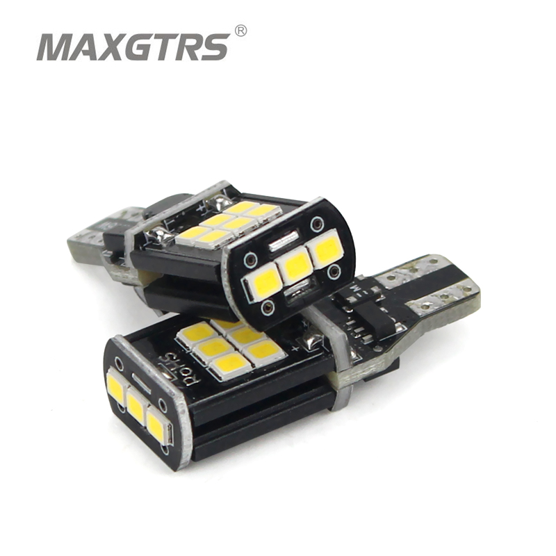 2x Genuine T15 W16W 921 912 Amber/White LED Canbus Backup Car Reversing Light Bulb Backup Light Turn Signal Light Brake Fog Lamp 2 x error free super bright white led bulbs for backup reverse light 921 912 t15 w16w for peugeot 408