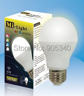 RGBW E27 6W WiFi LED Bulbs 2.4G Smart phone control Colors adjustable Dimmable smart Lamp,Milight,free shipping rgbw e27 6w wifi led bulbs 2 4g smart phone control colors adjustable dimmable smart lamp milight free shipping