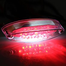 Motorcycle Tail Light 12V Motorbike Bike ATV Rear Lamp Taillight 23 LEDs Fits Any Street Bike Scooter Low Power Consumption