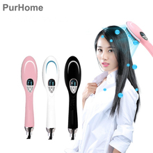 Ceramics Anion Hair Dryer Comb Warm Air Blowing Wavy Curls Straight Hair Conditioner Handle Thermostatic Hairdress Electric Blow