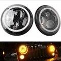 Yait пара 7 дюймов Halo Angle Eyes DRL фары круглые светодиодные фары дальнего и ближнего света для Jeep Wrangler внедорожник 4x4 мотоцикл