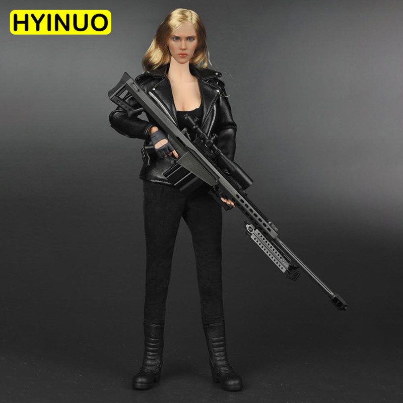 1/6 Scale Terminator T 800 Women Sexy fighting Leather Clothing Female Sarah Connor Clothes Clothing Set For 12 Figure BodyDoll image