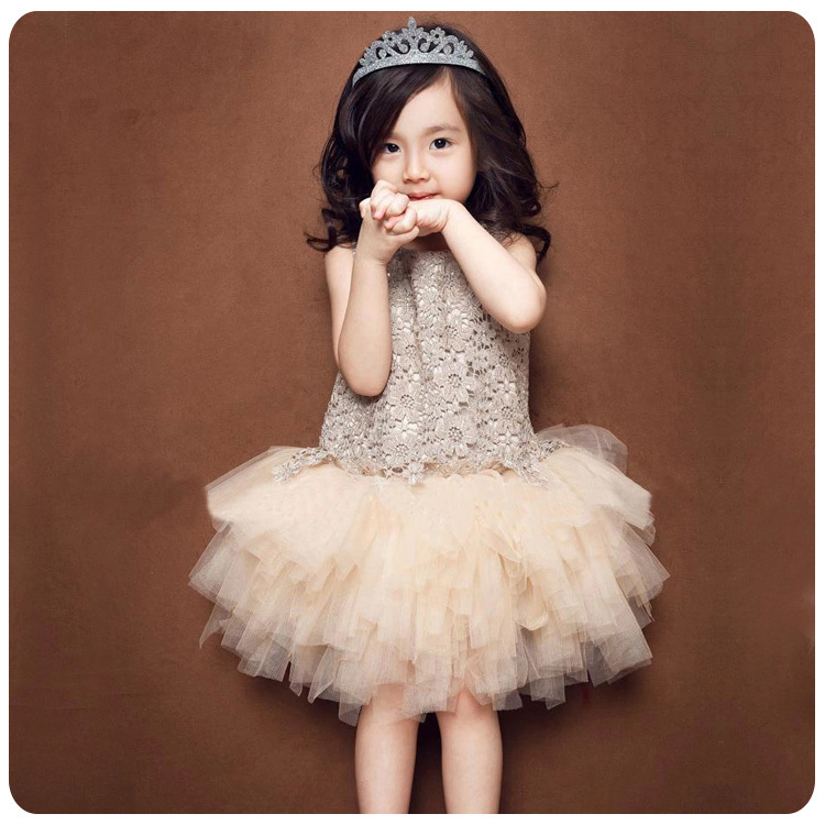 2016 Spring Summer New Style Girl Lace Dress Baby Thick Disorderly Princess Temperament Full Dress Exceed Immortal 2016 children princess baby girl full thick disorderly children flower girl wedding dress dress six
