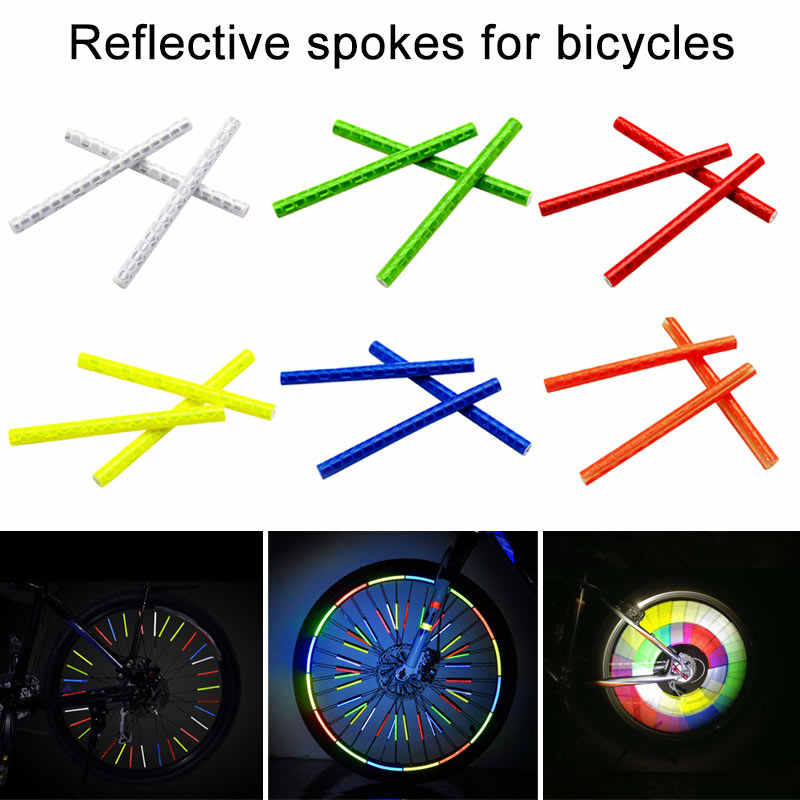 Hot 12 Stks/zak Bike Fiets Spoke Wheel Reflector Reflecterende Veiligheid Kousvuller HV99