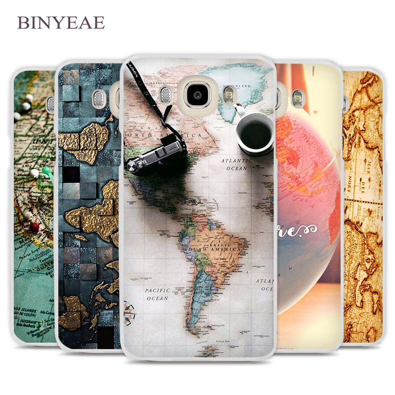 Galleria fotografica BINYEAE World Map Travel Plans Cell Phone Case Cover for Samsung Galaxy J1 J2 J3 J5 J7 C5 C7 C9 E5 E7 2016 2017 Prime