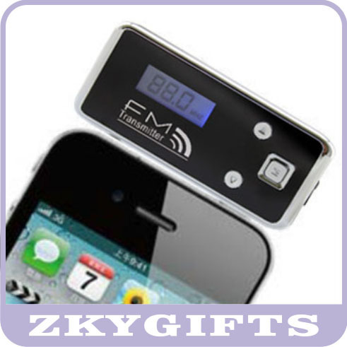 For iphone 3g/ipod/Sumsung/Blackberry/laptop broadcast electronics fm transmitters+ free shipping