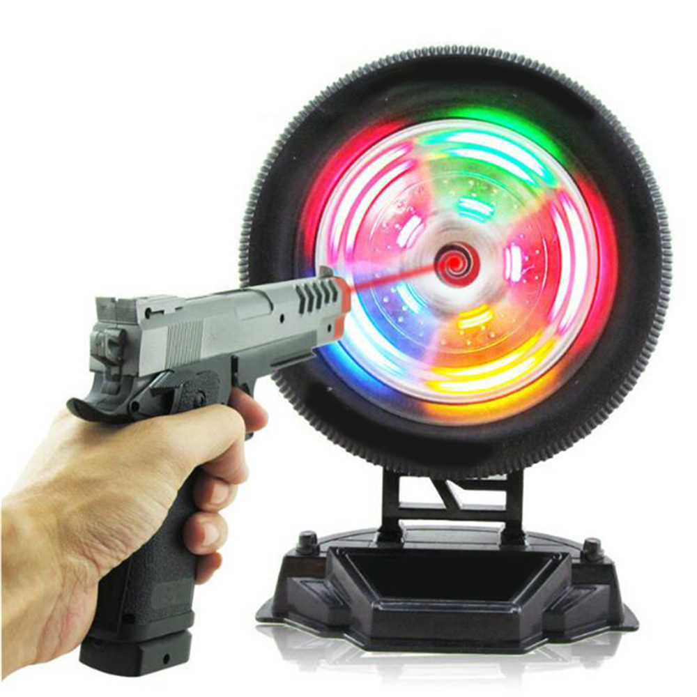 Children Electric Pistol Laser Gun Shooting Toy Infrared Training Wheel Simulation Toy Shooting Training Targeting Light Music