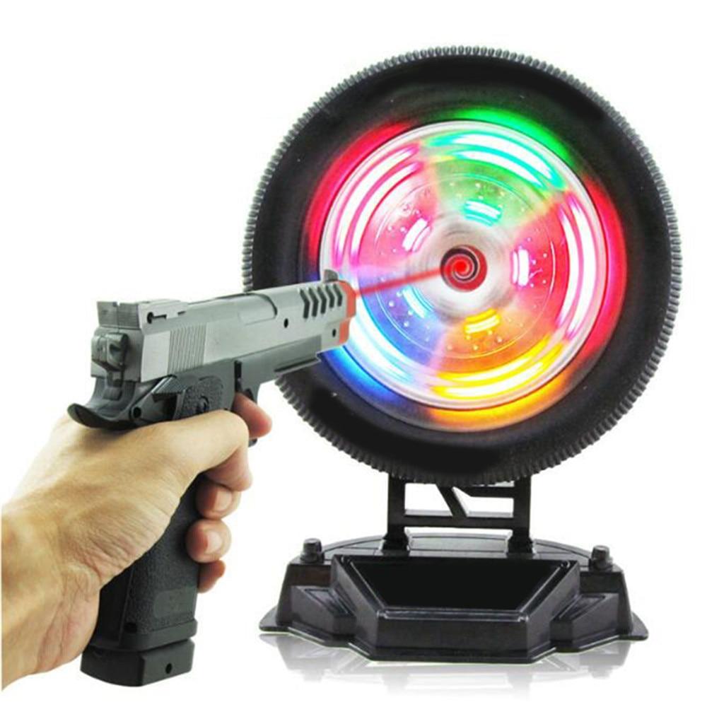 Children Electric Pistol Laser Gun Shooting Toy Infrared Training Wheel Simulation Toy Shooting Training Targeting Light Music