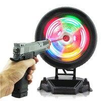 Children Electric Pistol Laser Gun Shooting Toy Infrared Training Wheel Simulation Toy Shooting Training Targeting Light