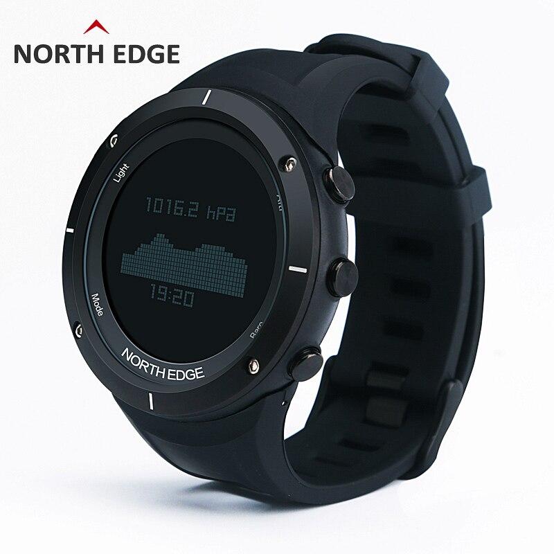 NORTH EDGE sports de plein air marque hommes montres militaire montre numérique intelligente boussole altimètre escalade randonnée horloge de natation Relogio