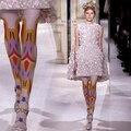 2017 Venda Limitada Impressão Misturas de Impressão Dos Desenhos Animados Meia-calça Cor Elegante Personalidade Finas Leggings Meias